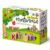 Набор кубиков из дерева «Цветные буквы» (12 штук)