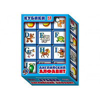 Пластмассовые кубики с английскими буквами «ABC»