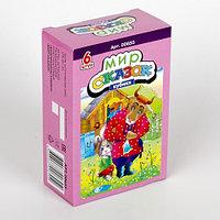 Пластмассовые кубики-картинки «Мир сказок-2», 6 штук, фото 1