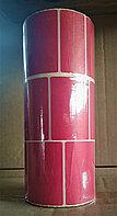 Красная термоэтикетка 58х40х600