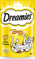 Лакомство Dreamies для взрослых кошек с сыром, 60г, фото 1