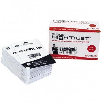 Комплект чистки для карт принтеров (50 шт клейких карт) Evolis ACL003