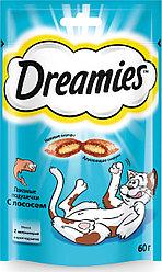 Лакомство для кошек Dreamies с лососем 60 г