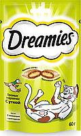 Лакомство Dreamies для взрослых кошек с уткой, 60г, фото 1