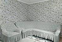 """Чехол на угловой диван """"Жаккард"""""""