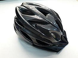 Велосипедный шлем под карбон с задним сигналом
