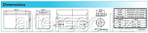 Аккумулятор для лодочного мотора Challenger A12DC-100S (12В, 100Ач), фото 2
