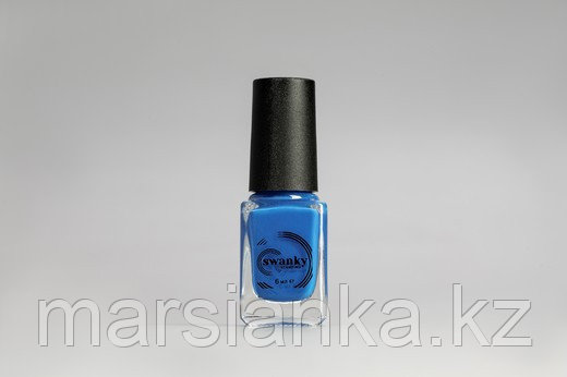 Лак для стемпинга Swanky Stamping S14, неоново-синий, 6мл