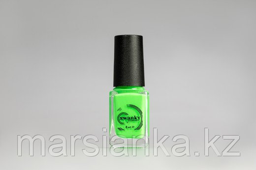 Лак для стемпинга Swanky Stamping S15, неоново-зеленый, 6мл