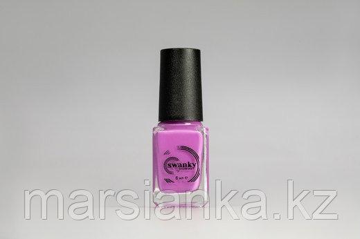 Лак для стемпинга Swanky Stamping S16, неоново-розовый, 6мл