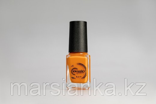 Лак для стемпинга Swanky Stamping S17, неоново-оранжевый, 6мл