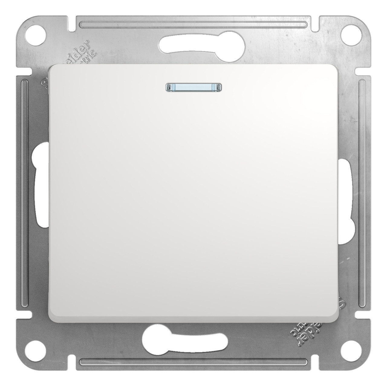 GSL000113 Glossa - 1-полюсовый выключатель с лампой - механизм - 10 AX - белый