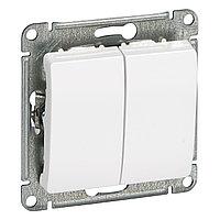 GSL000151 Glossa - 1-полюсовый 2-клавишный выключатель - механизм - 10 AX - белый
