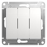 GSL000131 Glossa - 1-полюсовый 3-клавишный выключатель - механизм - 10 AX - белый