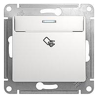 GSL000169 Glossa - выключатель,управлениекарточкой-ключом - белый