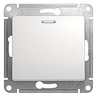 GSL000163 Glossa - 1-полюсн. выключ. на 2 напр. с ламп. - механизм - 10 AX - белый