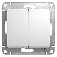 GSL000165 Glossa - выключатель,сдвоенн. на 2 направления - механизм - 10 AX