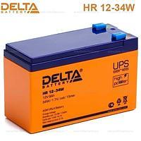 Delta HR 12-34W 12V 9A F2 AGM аккумулятор.