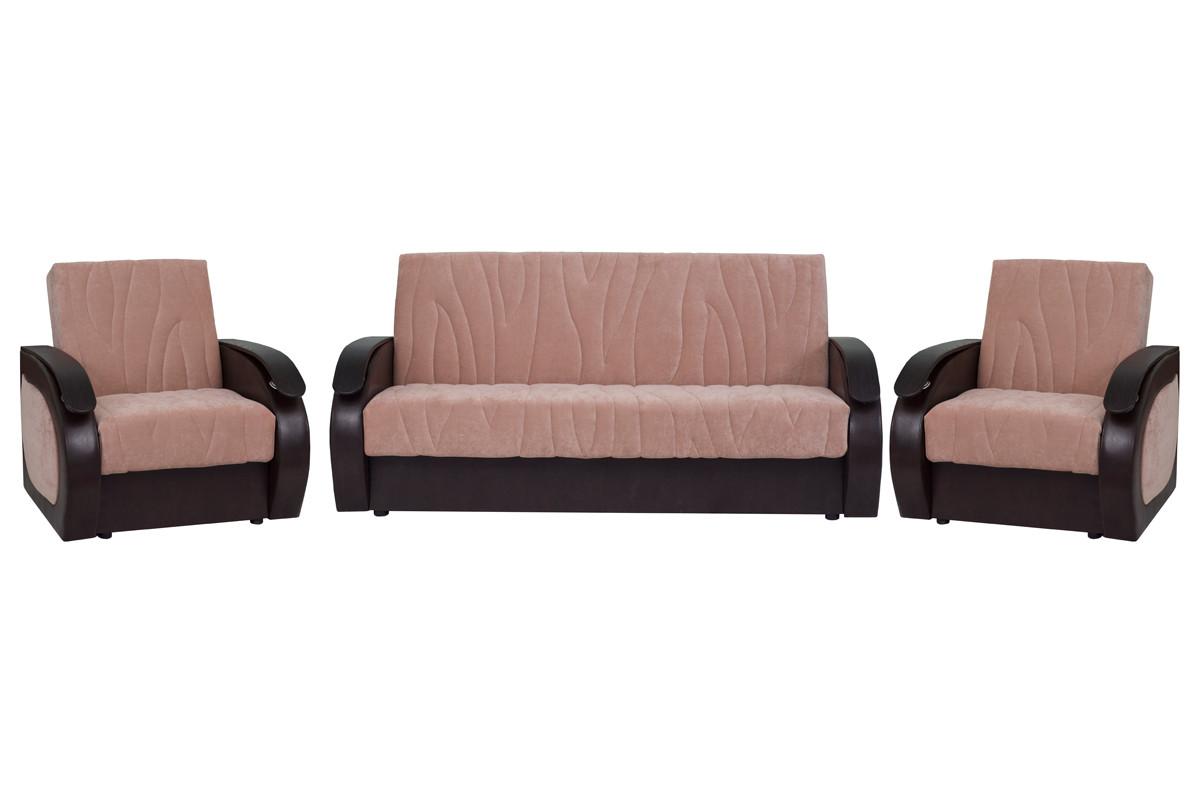 Комплект мягкой мебели Сиеста 2, Бежевый, АСМ Элегант(Россия)