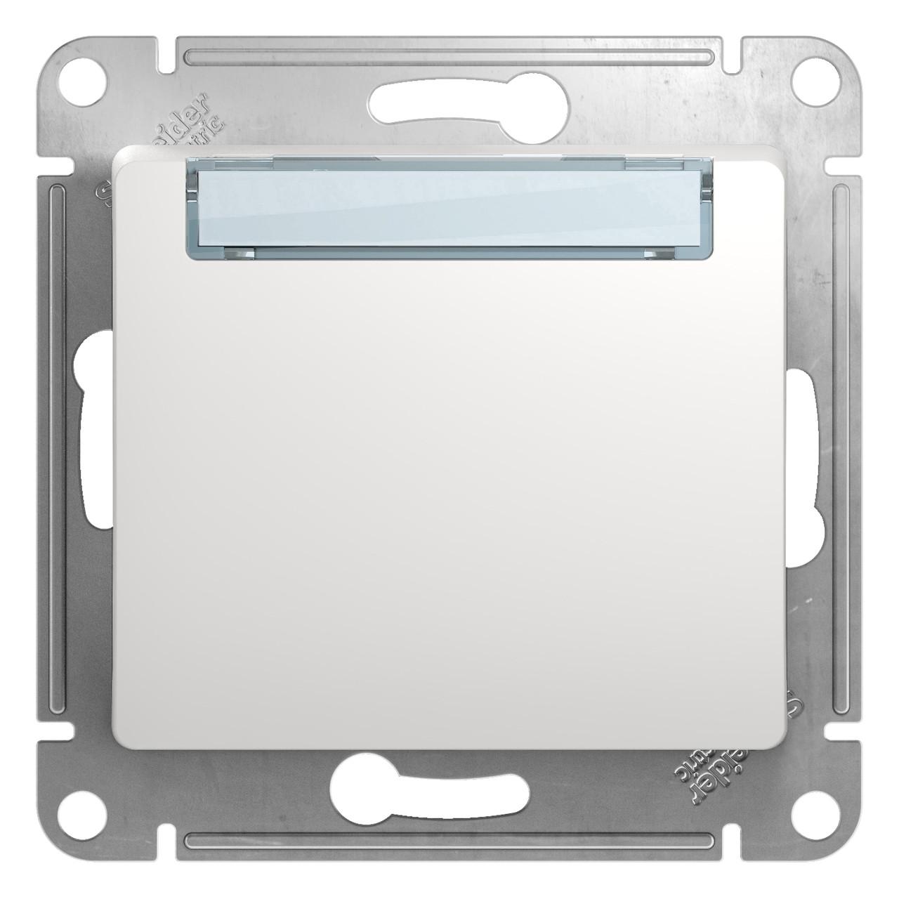 GSL000119 Glossa - 1-полюсовый кнопка с полем для надписи - механизм - 10 A - белый