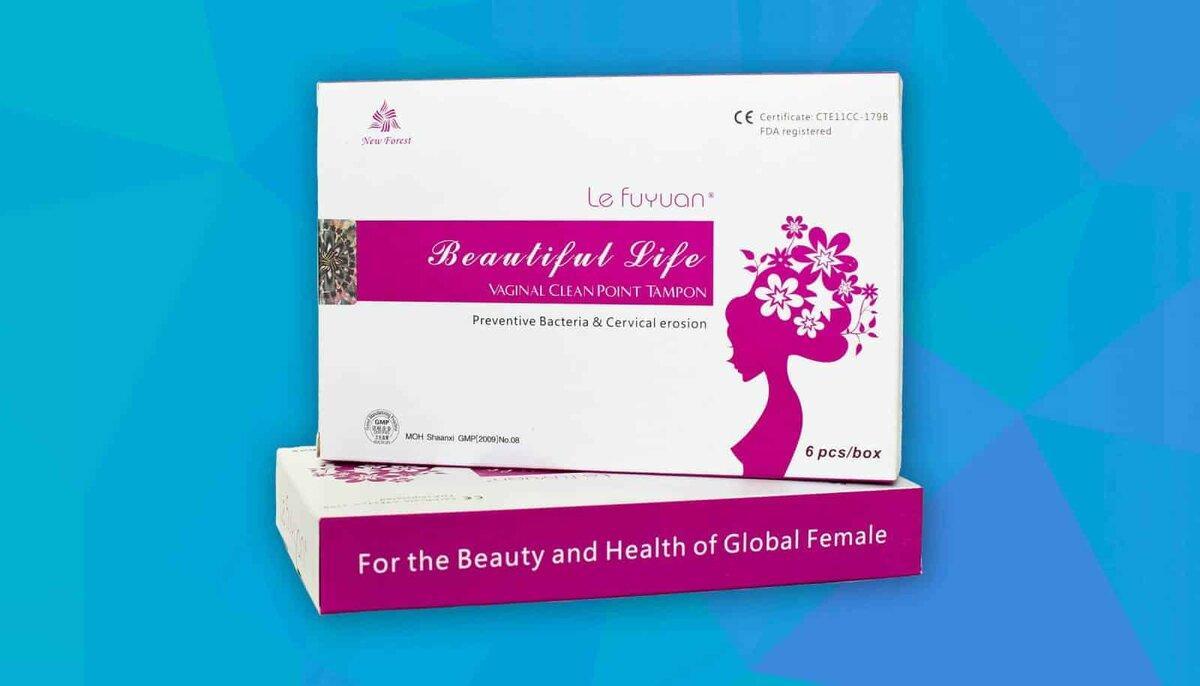 Лечебные гинекологические фитотампоны Beautiful Life  6шт