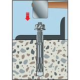 Анкер клиновой по бетону (A2K)-55/64-M8X120, фото 4