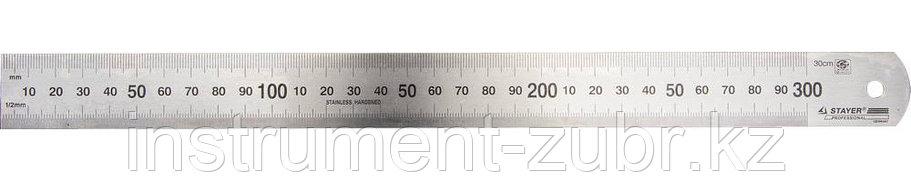 """Линейка STAYER """"PROFI"""" нержавеющая, гравированная шкала, 0,3м, фото 2"""