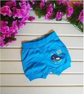 Шорты для мальчика, цвет голубой, с китом, на 9-12, 1-2 года