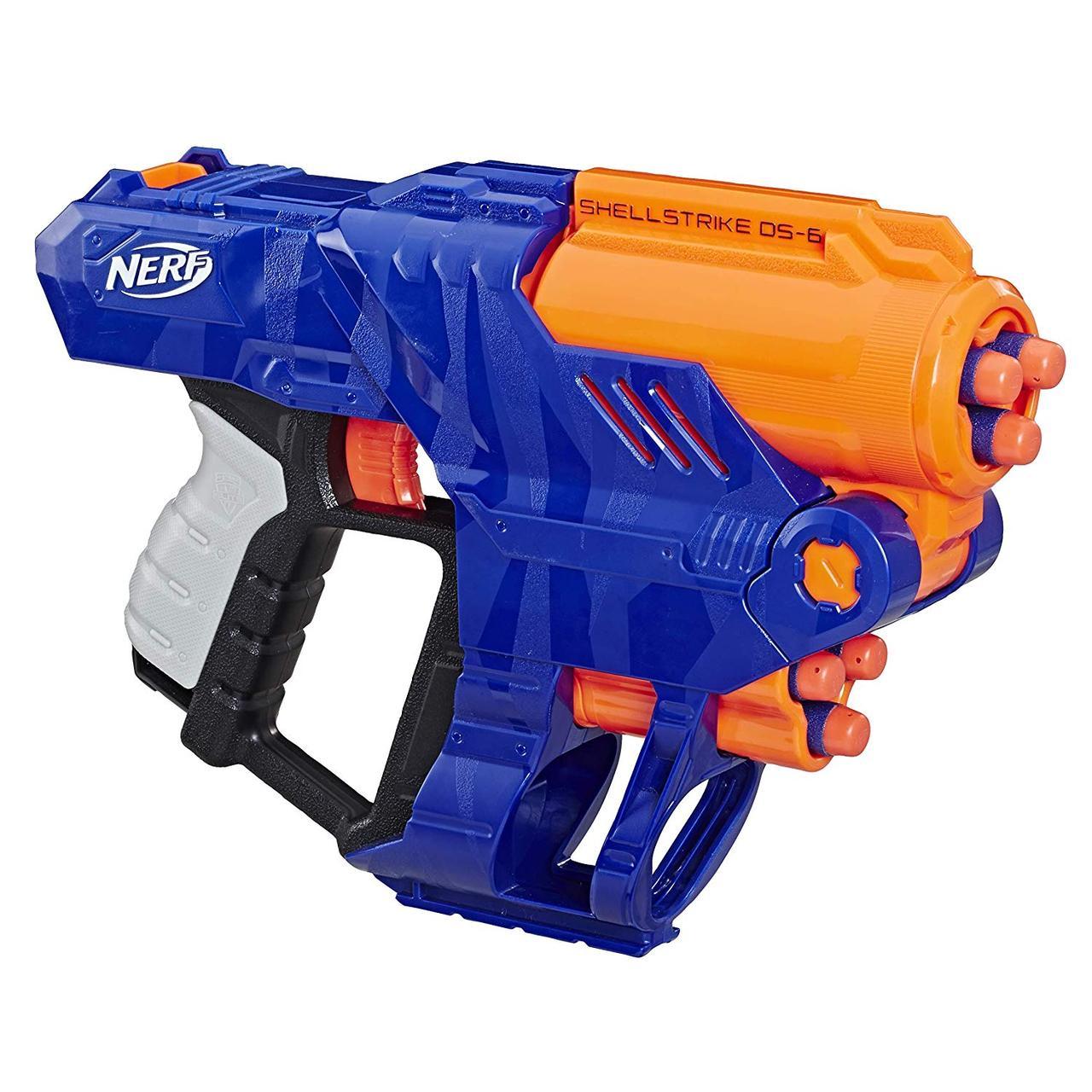 Hasbro Nerf N-Strike Elite Пистолет Бластер Шеллстрайк  DS-6 (ShellStrike DS-6)