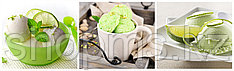"Фартук ""Фисташковое мороженное"" 2,07*0,695м"