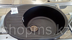 GranFest-QUARZ (ECO-58) Мойка чаш+кр. 620*480 арт. GF-Z-58 (черный)