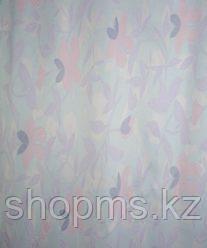 Штора для ванной 020А-2(2) (голубые листья)