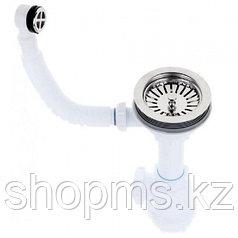 Сифон GRAND 3 1/2 ЭКОНОМ 370-11-01  с кругл. переливом и винтом