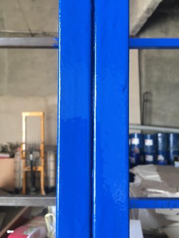 Покрасили витрину грунт эмаль 3 в 1 синяя