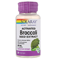 Solaray, Активированный экстракт семян брокколи, 350 мг, 30 растительных капсул