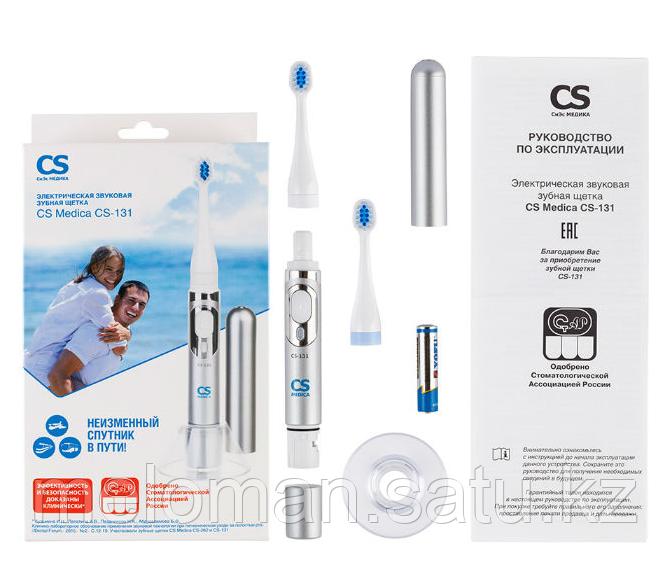 CS Medica: Электрическая звуковая зубная щетка CS Medica CS-131, белый-серебристый - фото 5