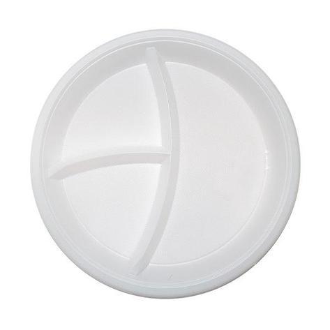 Тарелка d 205мм, 3-секц., бел., ПП, 2000 шт, фото 2