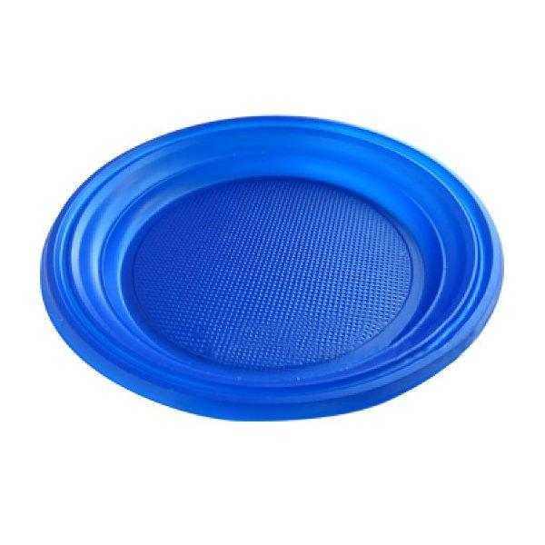 Тарелка d 170мм, синяя, 2800 шт