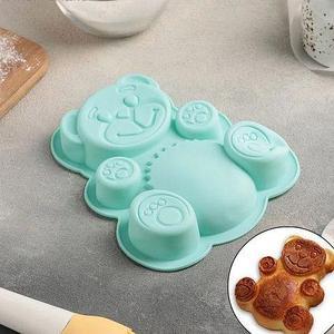 Форма для выпечки силиконовая «Мишка Валера»
