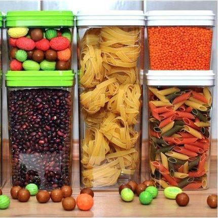 Набор контейнеров для сыпучих продуктов «Фикс» 3 в 1 {0,6/0,6/1,3 л}, фото 2