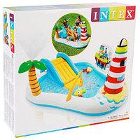 Игровой комплекс надувной с горкой и фонтаном «Веселая рыбалка» 57162NP INTEX