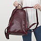 Рюкзак молодёжный, отдел на молнии, 2 наружных кармана, цвет бордовый, фото 5