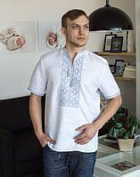 Вышиванка мужская Віктор лен белый