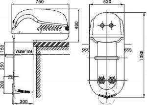 Противоток навесной BSW-3000 (380V), фото 2