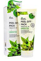 Увлажняющая и восстанавливающая маска-пленка с экстрактом зеленого чая Peel Off Pack Green Tea, Ekel 180 мл