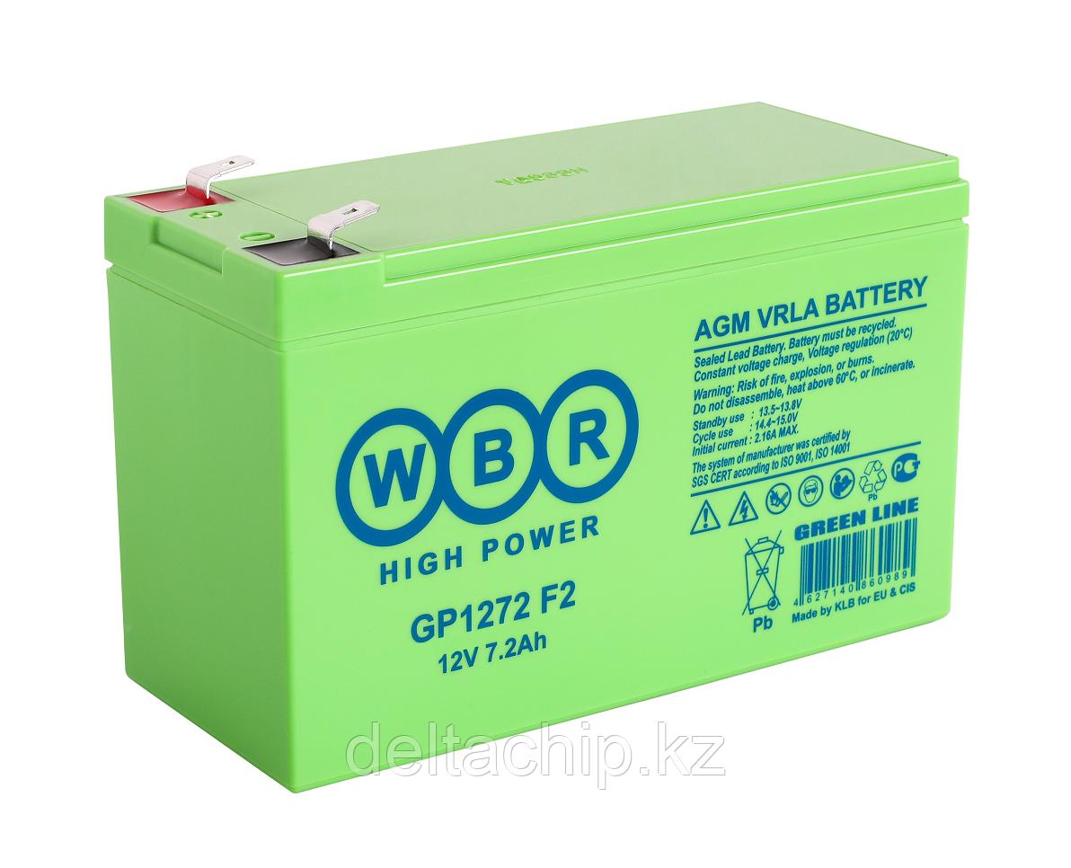 WBR GP1272 12V 7.2A Свинцово кислотный аккумулятор.