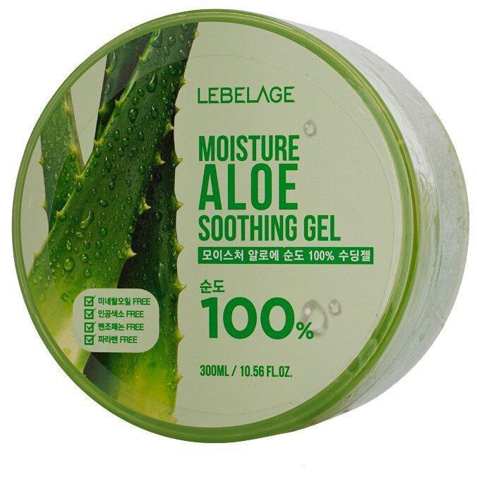 Гель для тела Lebelage увлажняющий успокаивающий с экстрактом алоэ Moisture Aloe Soothing Gel 300ml.