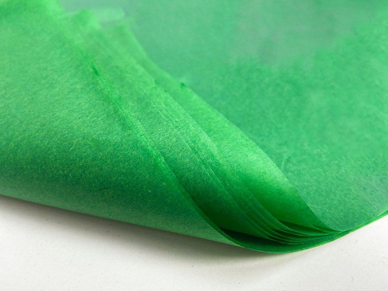 Тишью для оформления подарков. Цвет - Зеленый.