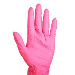 Набор перчаток хозяйственных, нитрил, размер S, 10 шт./5 пар, цвет чёрный, розовый, голубой