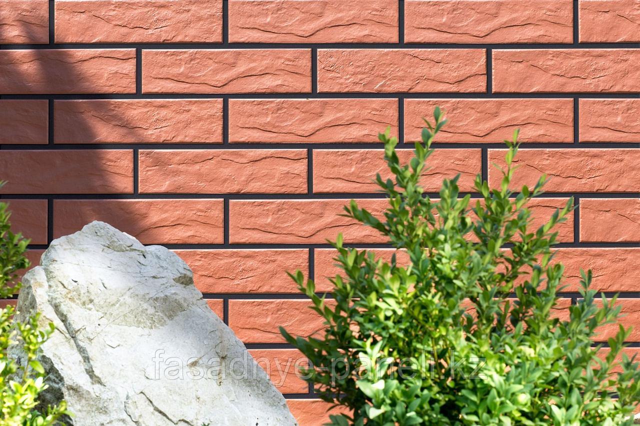 Угловая термопанель под кирпич Fasade-EXPERT, с утеплителем 30мм - фото 1